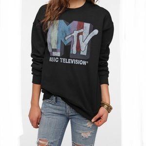 JUNK FOOD MTV Graphic Band Music Sweatshirt Small